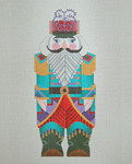 ED-1248B Dede's Needleworks Russian Nutcracker front only, 7 x 4, 18g