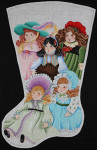 ED-1326 Dede's Needleworks Vintage Doll Stocking 15 x 24, 18g