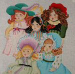 ED-1326P Dede's Needleworks Vintage Doll Pillow 14 x 14, 18g