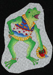 ED-1328B Dede's Needleworks Sweatered Folk Ornament – Frog 4 x 5½, 18g