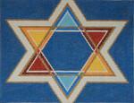JT041 Two A T Design TALLIS Size: 10 x 13, 13g Tri Color Star