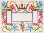 JT032 Two A T Design TALLIS Size: 10 x 13, 13g Crown/Torah Flowers