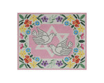 JT044B Two A T Design TEFILLIN Size: 8 x 9 ½, 13g Doves Floral