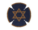 JT042A Two A T Design YARMULKE Size 7.5 diameter 18G Oval Items