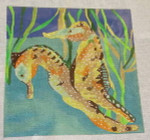 Waterweave C505 Sea Horses 18 Ct  8 x 8
