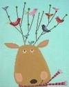 AS722 Reindeer Perch Birds Of A Feather