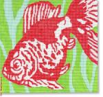 "CBK Designs by Karen DK-PL 39 Red Fish13 Mesh 8.5 x 8"""