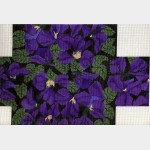 Whimsy And Grace BRICK COVER Wg11628B-13 Violets Black 13 count 13 3/4 X 9 3/4   13 ct