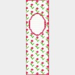 Whimsy And Grace BOOKMARK Wg11876 Primrose with Monogram 2 X 6 1/2 18 ct