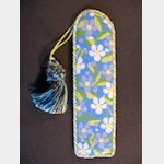 Whimsy And Grace BOOKMARK Wg11863 Navy Forget-Me-Not Bookmark 1 3/4 X 7   18 ct