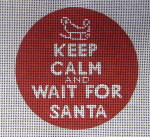 Keep Calm And Wait For Santa  70398-Unique New Zealand Designs Needlepoint Saying
