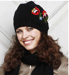 875021 Permin Kntting Kit Woolly Hat - Black