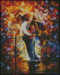 13-2571 Kiss On The Bridge (XS & Needlepoint) by Paula's Patterns Size: 350 x 438