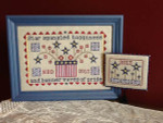 Spangled Happiness Framed: 111h x 171w, Pin Keep: 53h x 65w Needle Bling Designs YT