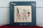 11-1196 POP-0218 Americana Peace 72 x 80 Poppy Kreations