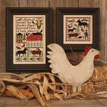 12-1212 August by Prairie Schooler, The barn-144 x 90 farmer- 81 x 81