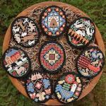 11-1317 Folk Eggs by Prairie Schooler, The 52 x 43