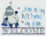 13-1479 Best Friends Welcome 111 x 80 MarNic Designs
