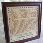 09-2675 272 Words (Gettysburg Address) Primrose Needleworks