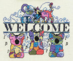 12-2998 Funky Cats Welcome by MarNic Designs