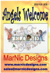 MarNic Designs Angels Welcome Size: 150w x 84h