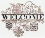 13-1052 Ornament II Welcome-Bronze Brilliance MarNic Designs