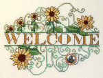 12-2255 Sunflower Welcome by MarNic Designs