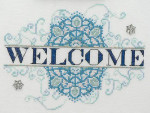 12-1088 Snowflake Welcome 110 x 84 MarNic Designs