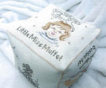 09-2401 Little Miss Muffet Soft Bookube Lynne Nicoletti Stitch Count 240w x 320h