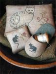 13-1491 Cat & Mouse Pinkeeps & Slipper Stacy Nash Primitives