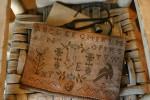 13-1091 True Love Sampler Bag & Pinkeep 132w x 88h Stacy Nash Primitives
