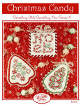 11-2521 Christmas Candy Ribbon Ornament: 34 x 52, Peppermint Tree: 47 x 55 noel 45 x 47 Sue Hillis Designs