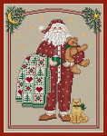 12-2763 Pajama Santa 96w x 122h Sue Hillis Designs YT