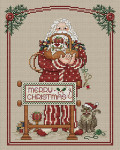 07-2761 Stitching Santa by Sue Hillis Designs YT