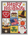 09-2444 Happy Holidays 123 X 94 Sue Hillis Designs