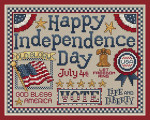 11-1812 Happy Independence Day 126 x 98 Sue Hillis Designs