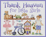10-1307 Thank Heaven For Little Girls 100 x 124 Sue Hillis Designs