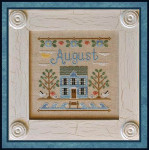 12-1901 Cottage Of The Month-August 77 x 77 Country Cottage Needleworks Counted Cross Stitch Pattern