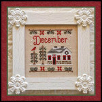 Cottage Of The Month-December Country Cottage Needleworks Counted Cross Stitch Pattern