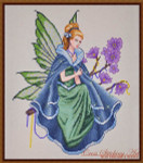 Cross Stitching Art Twilight Fairy Size: 162w x 196h
