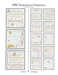CW Designs ABC Samplers Of Christmas 1 68 x 68