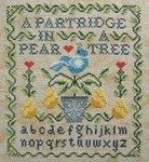 Twelve Days Of Christmas: A Partridge In A Pear Tree 95w x 106h Cottage Garden Samplings
