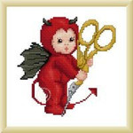 Ellen Maurer-Stroh Little Stitch Devil with Scissors