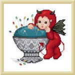 Ellen Maurer-Stroh Little Stitch Devil with Pincushion
