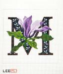 AO1043 Lee's Needle Arts Letter M, Magnolia 16 Mesh