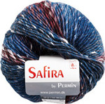884215 Permin Yarn Safira Bordeaux/Petrol/Green