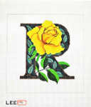 AO1048 Lee's Needle Arts Letter R, Rose 16 Mesh