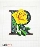 AO1048 Lee's Needle Arts Letter R, Rose 16 Mesh