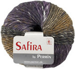 884204 Permin Yarn Safira Purple/Khaki
