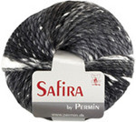 884201 Permin Yarn Safira Black/Grey